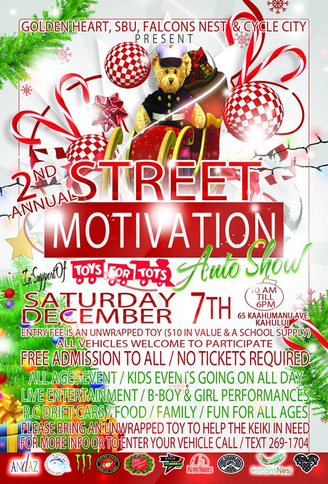 2nd annual toys for tots Street Motivation