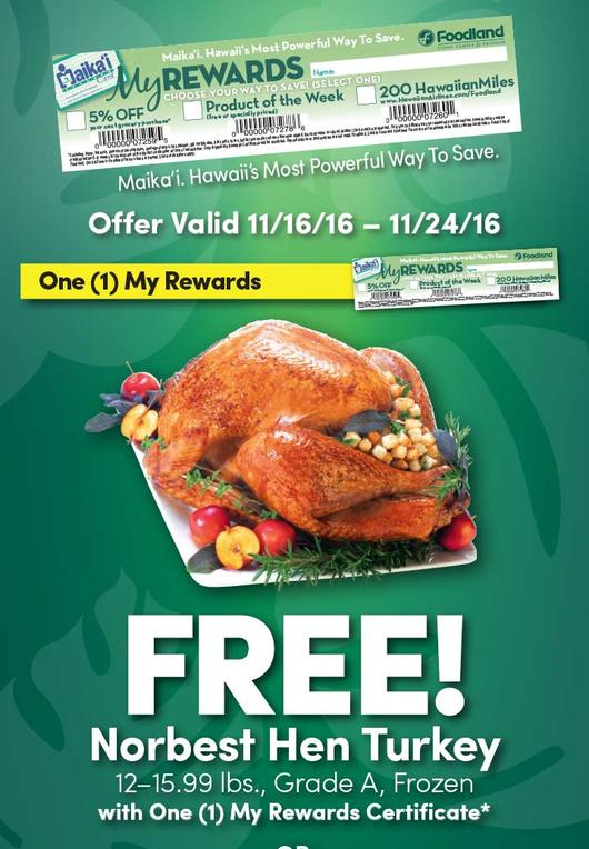 free thanksgiving turkeys molokai families