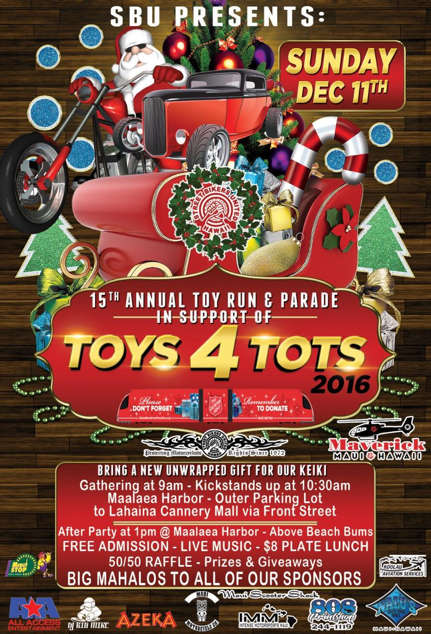 maui toys for tots poster 2016